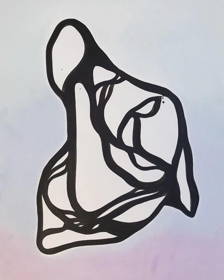 Indian ink & Pastel 2018