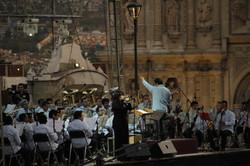480aniversario de la ciudad de Oaxaca 2012, Plaza de la Danza con la Banda de Musica del Estado.JPG
