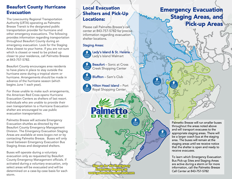 Emergency Evacuation Information Map