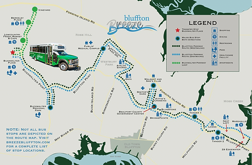 Bluffton Breeze Route Map