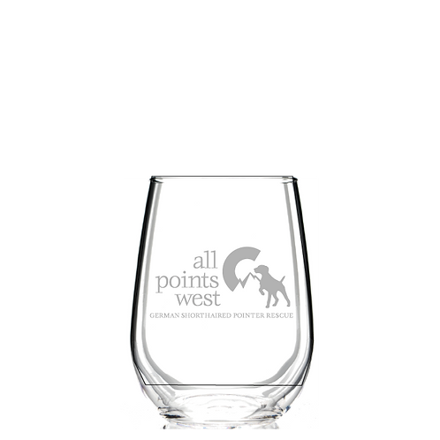 APW Logo Wine Glass - Shipping Included