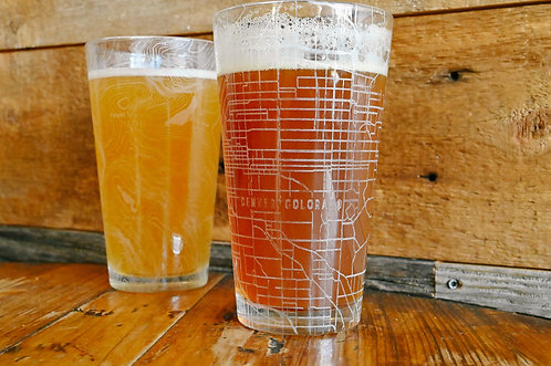 Custom Map Pint Glass - Shipping included