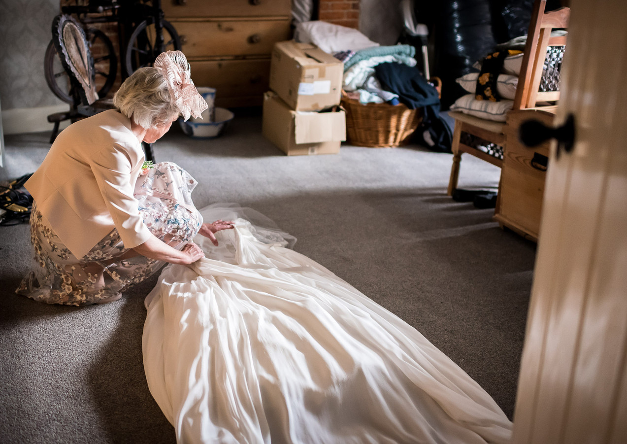 Getting ready wedding photography sussex