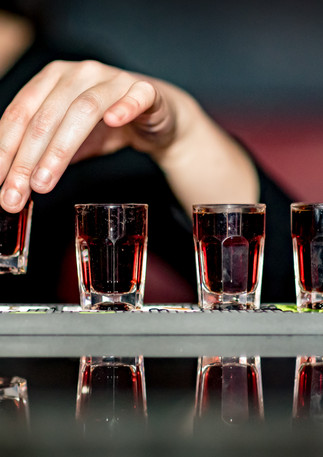Jaeger shots lined up