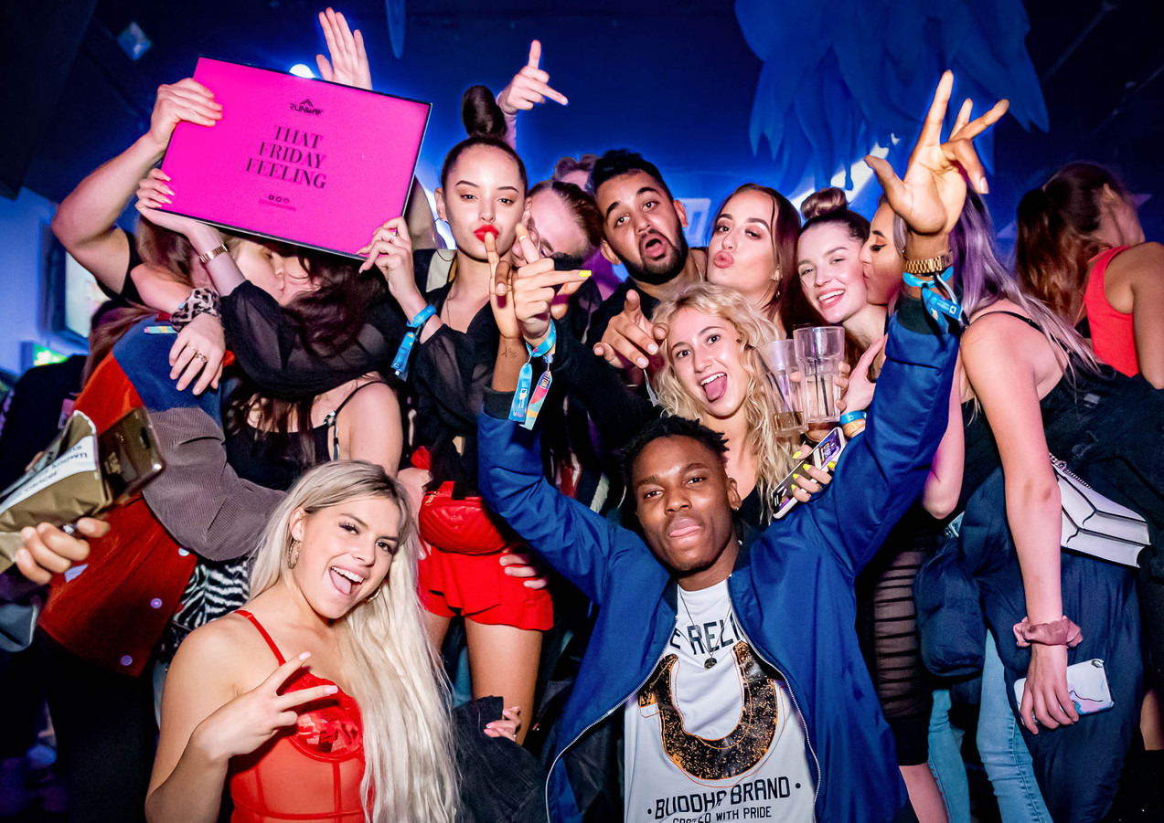 Party goers at shoosh brighton