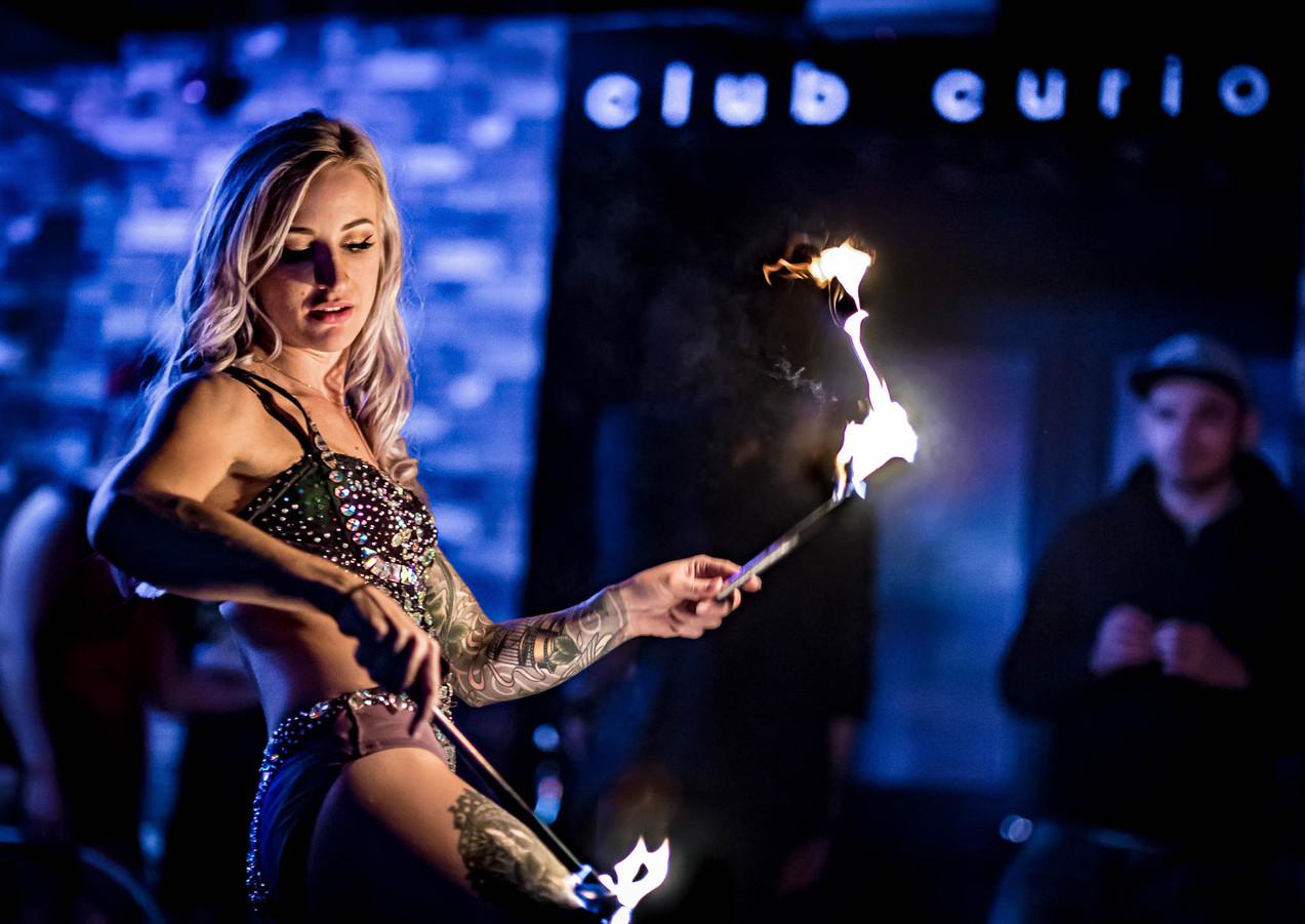 fire dancer sussex nightclub