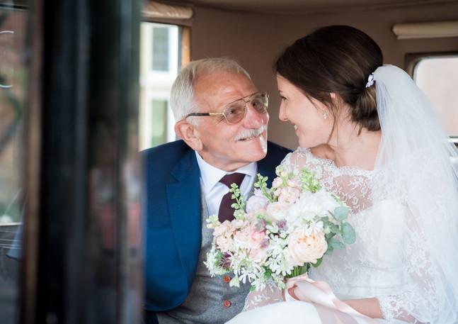 Giving his daughter away sevenoaks
