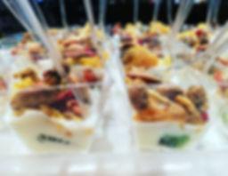 Verrines de fromage blanc, fruits toniques / Animation culinaire et diététique