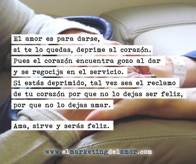 El amor es para darse.