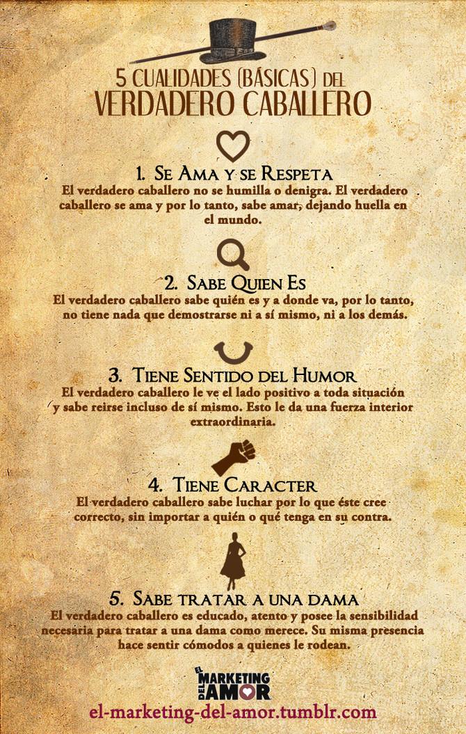 5 cualidades de un verdadero caballero