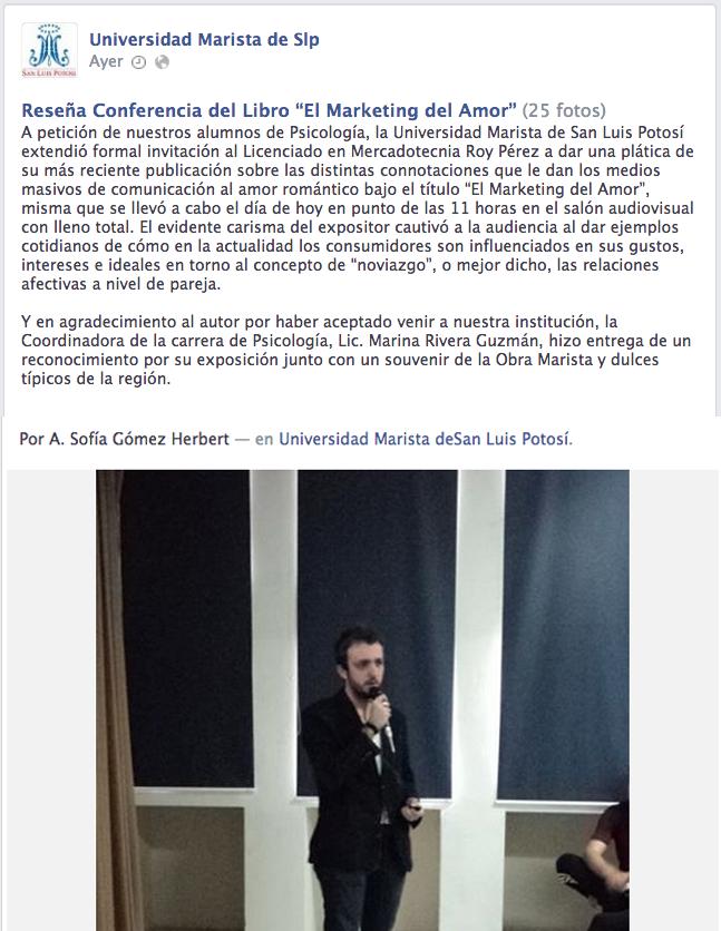 Reseña de U. Marista San Luis.