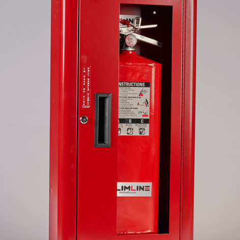 SL-2310 Red Cabinet Full Glass with Lock & White Letters