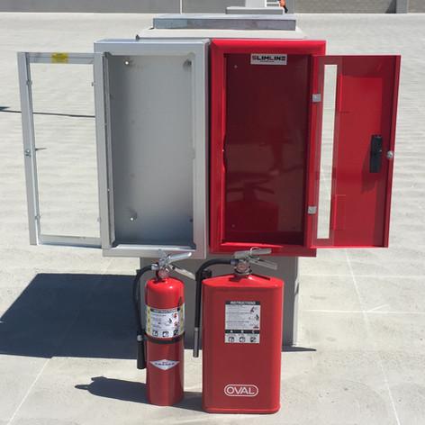 SlimLine Fire Cabinets & Fire Extinguisher