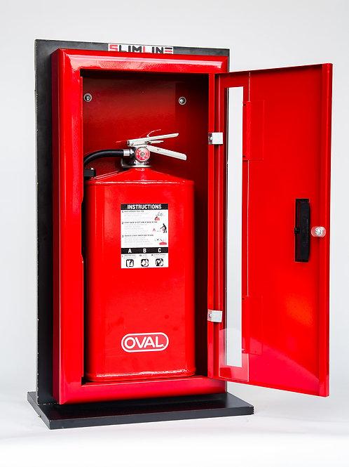 SlimLine Fire Extinguisher Cabinet & Fire Extinguisher Combo Red
