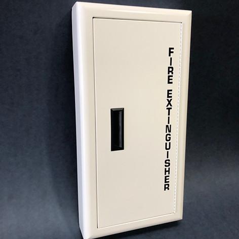 SL-1530 White Cabinet Solid Door No Lock & Black Letters