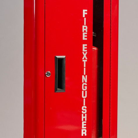 SL-2110 Red Cabinet Vertical Glass with Lock & White Letters