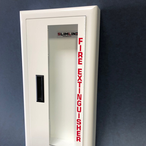 SL-1420 White Cabinet Full Glass No Lock & Red Letters