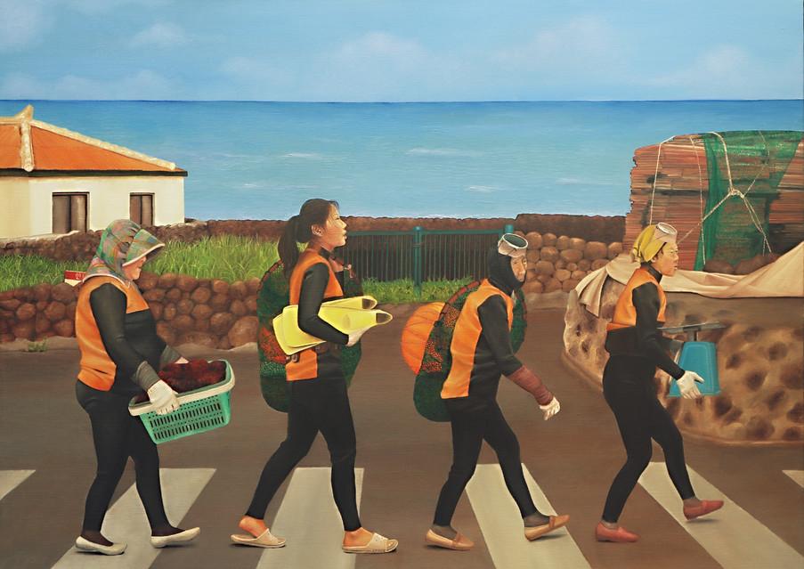 동행, Oil on Canvas 72×1000