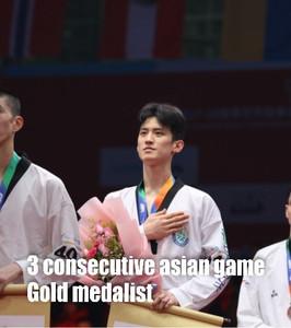 3 consecutive asian games gold medalist.