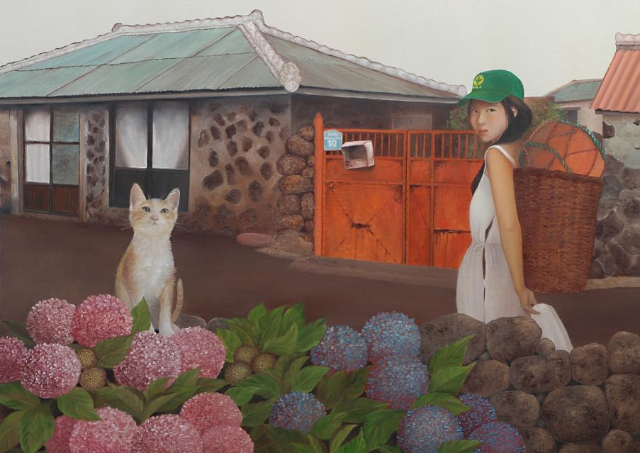 해녀와 고냉이, Oil on canvas53x73 (1).jpg