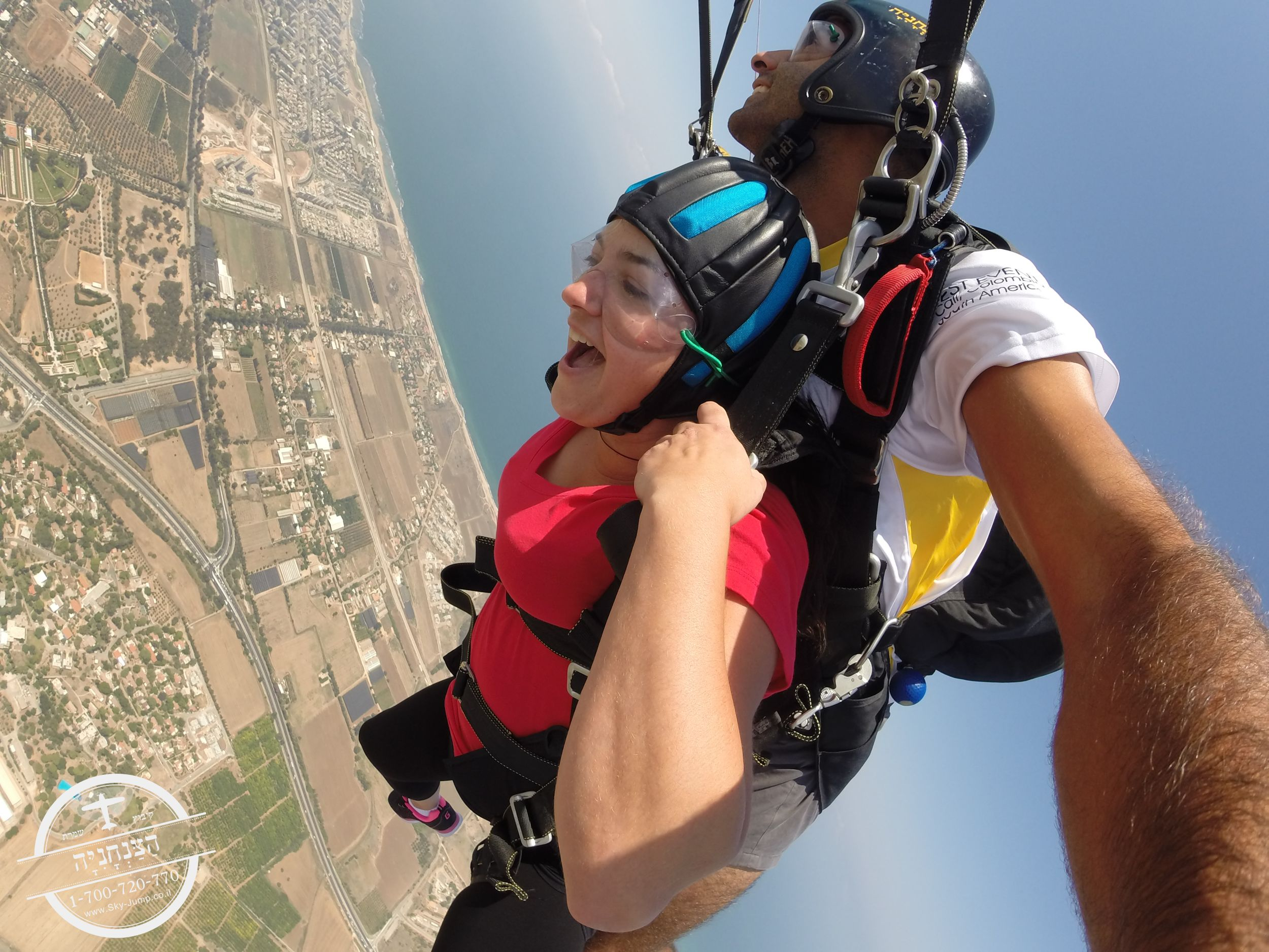 Skydive over israel