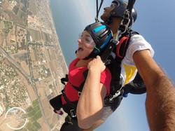 Skydive over israel