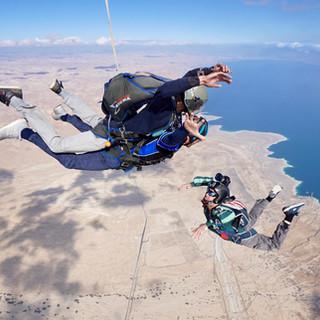 Skydive Israel over Dead sea and Masada