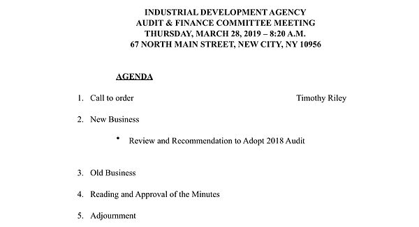 IDA March 2019 3.28 Audit.Finance Commit