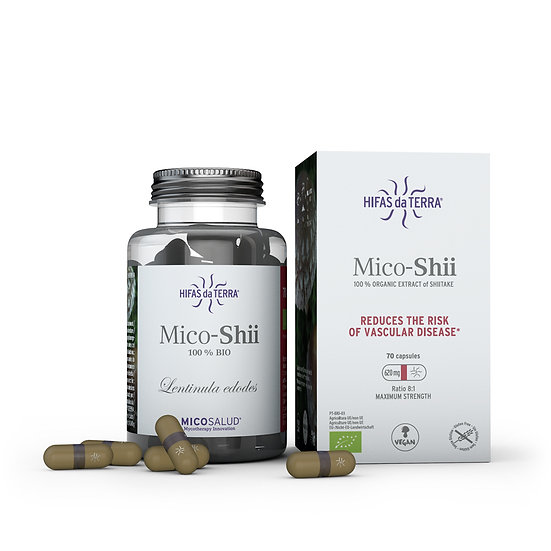 Mico-Shii – Extrait pur biologique de Shiitake (Lentinula edodes) - 70 g