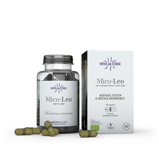 Mico-Leo – Extrait pur biologique de Hericium erinaceus - 70