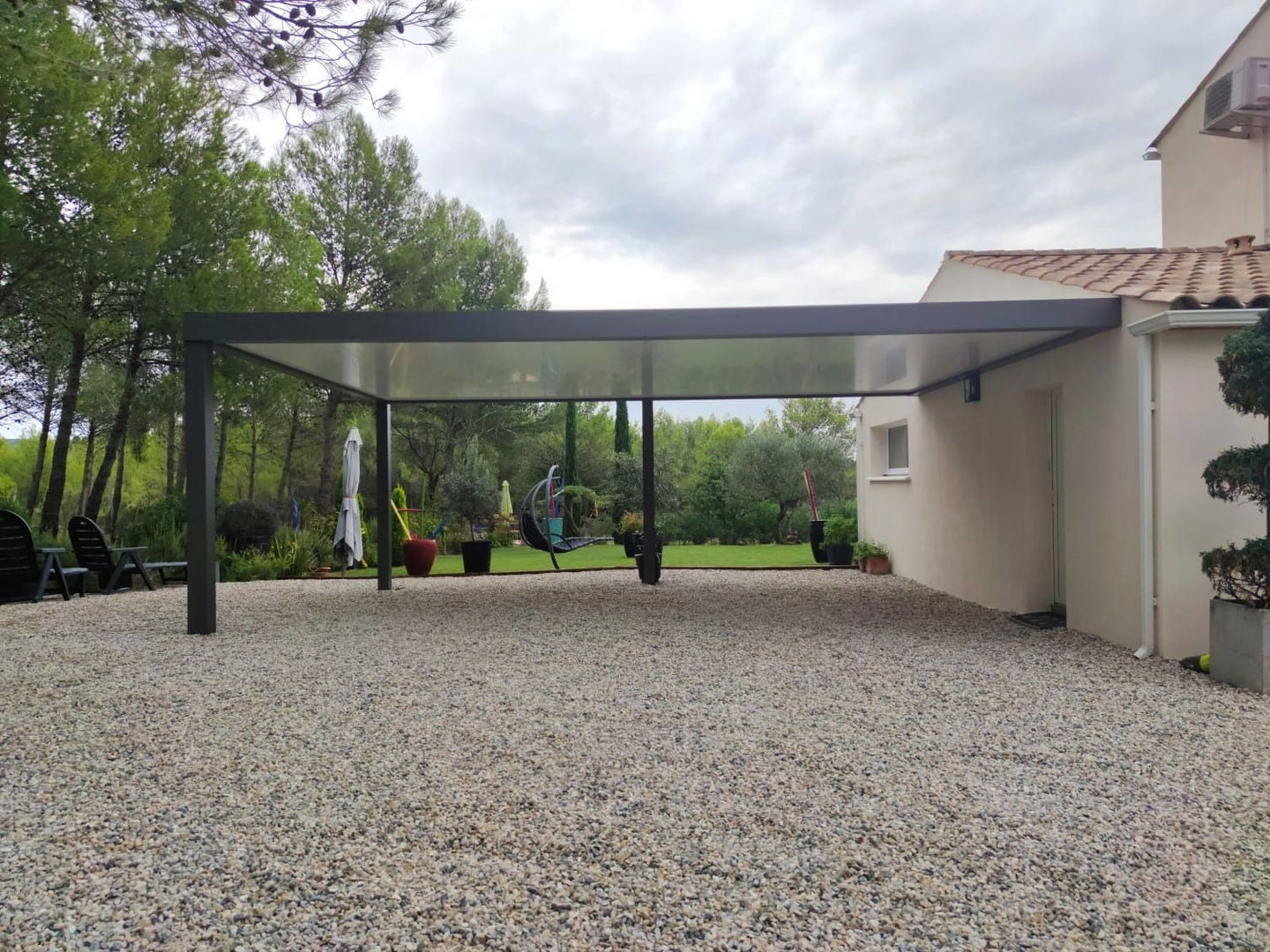Carport double sur mesure en alu