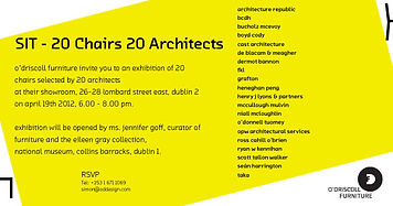 SIT 20 chairs 20 architects