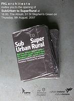 SubUrban to SuperRural