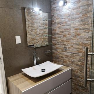 Baño planta baja | Remodelación integral | diseño de interiores | Remodelación San Mateo.