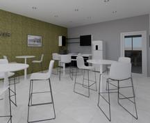 Comedor de Oficina | Diseño de interiores | Diseño virtual | Remodelación de local comercial