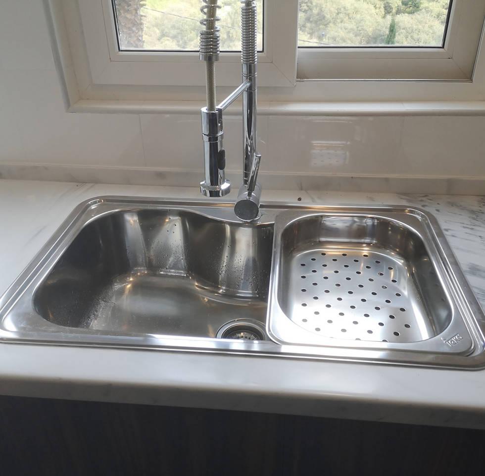 Tarja y monomando | Diseño de cocina | Diseño de interiores | Muebles sobre diseño | Condado de Sayavedra.