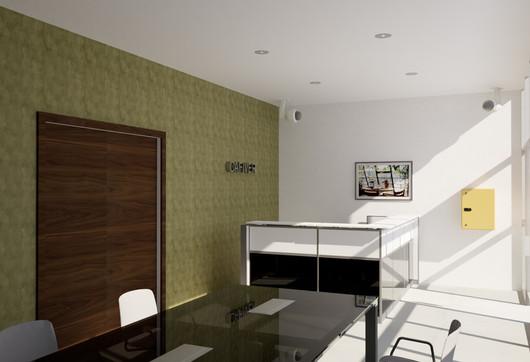 Recepción para oficina | Diseño de interiores | renders | Remodelación de local comercial.