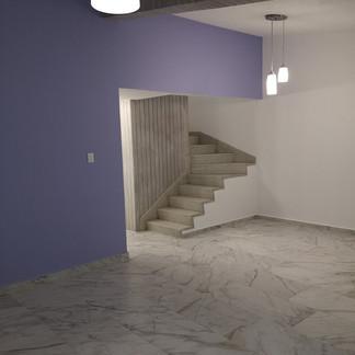 Sala - comedor | Remodelación integral | diseño de interiores | Remodelación San Mateo.