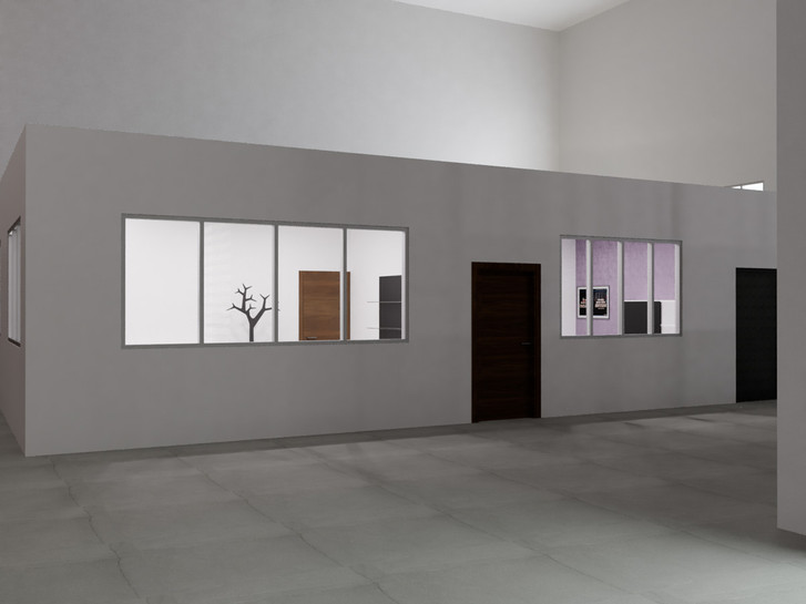 Muros de tablaroca | Diseño de interiores | Renders | Remodelación de local comercial.