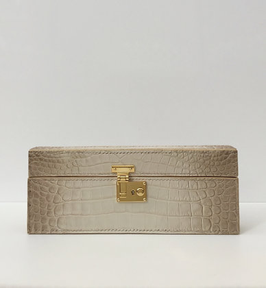 Himalaya Exotic Crocodile Leather Handcrafted Box Bag Clutch Bag