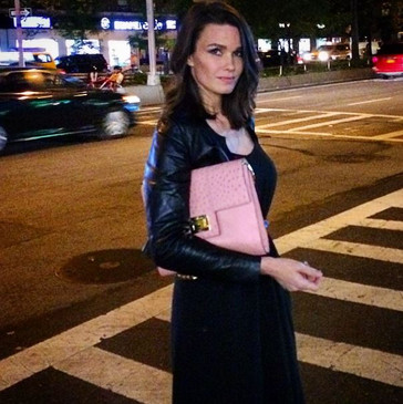 Larissa Bond with our Dominatrix bag