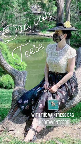 Dita von Teese with our Vaintress bag