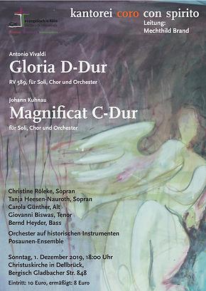 Konzert1.12.Christuskirche Köln-Dellbrück, Posaunenensemble, Kantorei Coro con Spirito