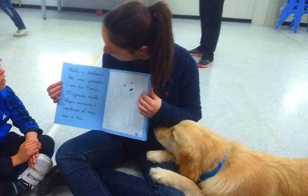 taller lectua asistida con perro
