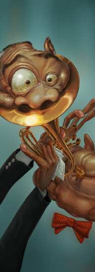 Louis Armstrong caricature