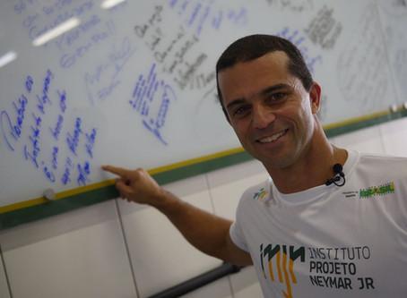 Max Wilson no Instituto Neymar Jr
