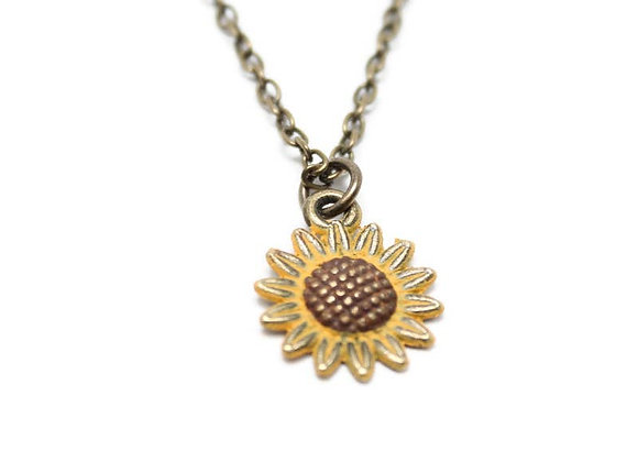Rise Up for Children Donation Sunflower Necklace