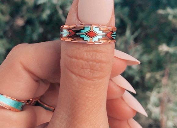 Copper Sands Slim Adjustable Copper Ring