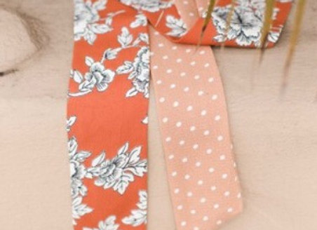 Orange Floral Sash