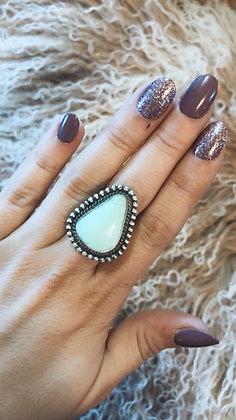 Lrg Pale Blue Ring Sz. 6 1/2